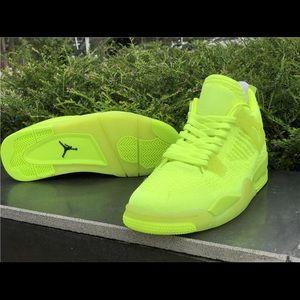 Jordan Shoes - Air Jordan 4 flyknit Volt
